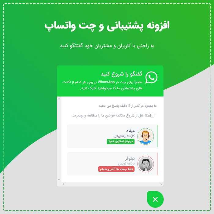 افزونه چت با واتس آپ WhatsApp Click to Chat وردپرس نسخه ۱٫۶